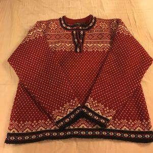 L.L. Bean button up sweater